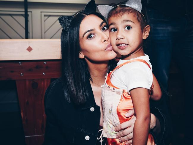 Kim Kardashian and daughter, North West in 2017. Picture: Getty