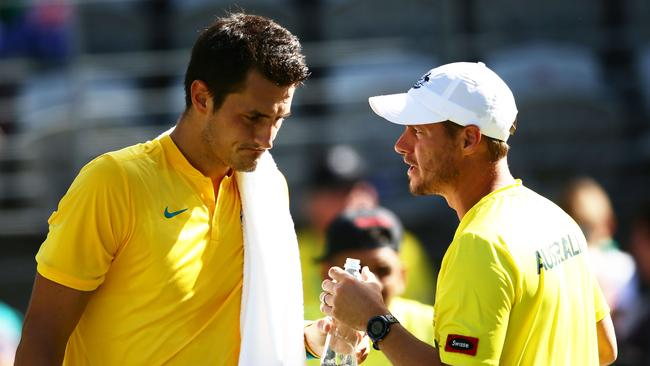 Hewitt is unsure if Tomic will play a role in Australia's tie with USA