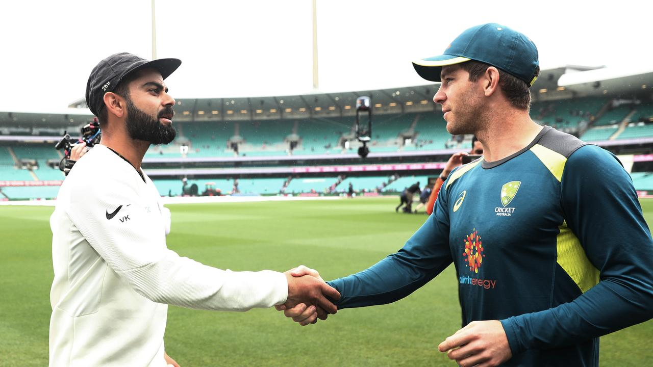 Indian captain Virat Kohli and Australia captain Tim Paine.