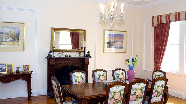 The home's formal dining room.