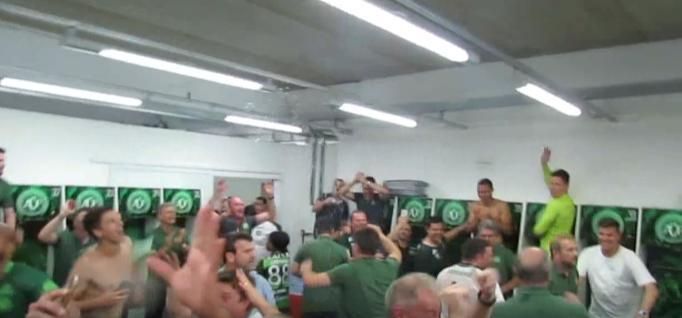 COLOMBIA: Chapecoense Celebrates Entering Copa Sudamericana Finals November 25