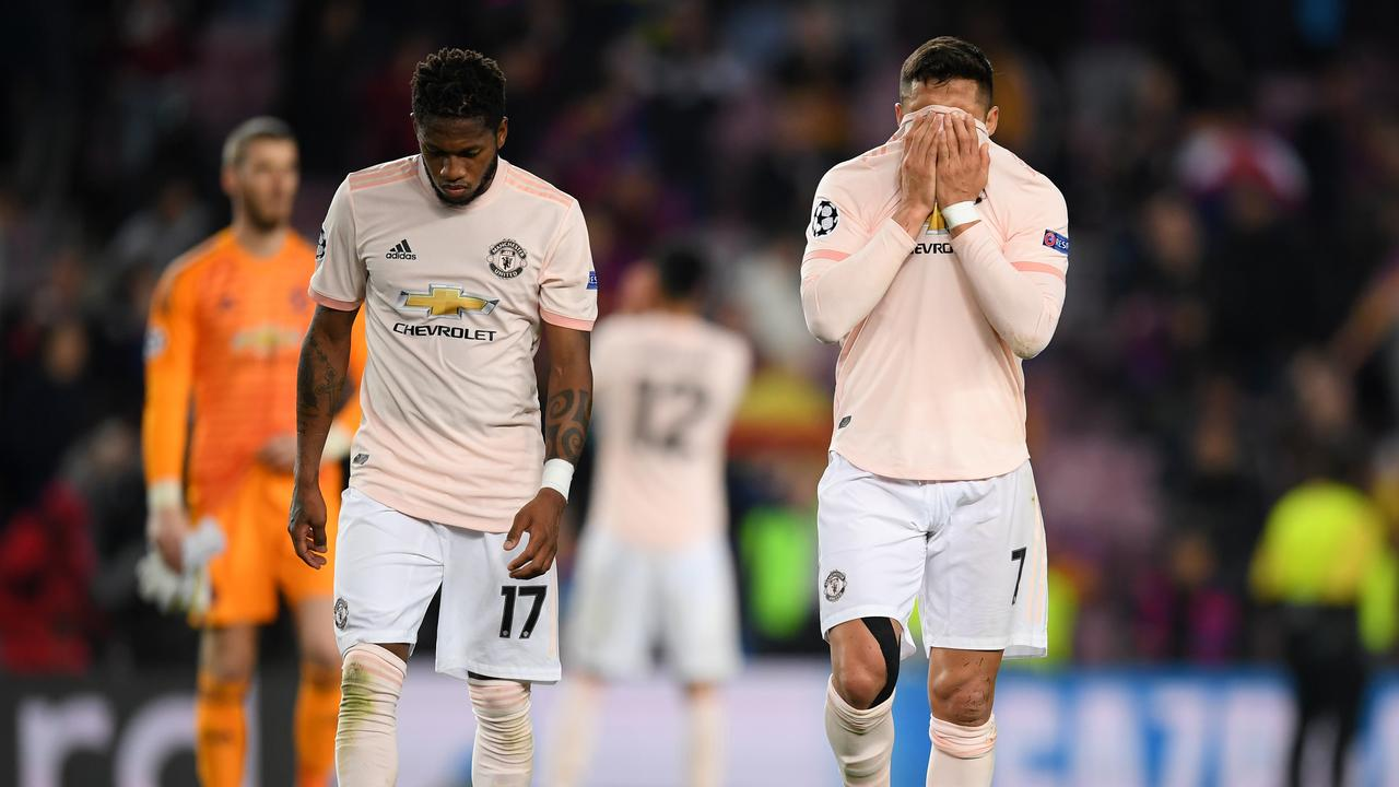 United were demolished by Barcelona in the Champions League quarters