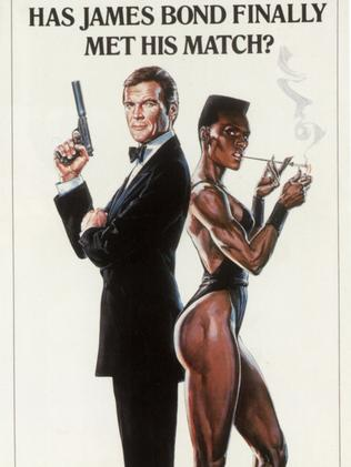 Roger Moore was 57 in this film, that's pretty ancient as far as Bonds go.