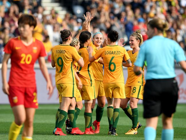The Matildas have drawn big crowds at smaller rectangular stadiums.