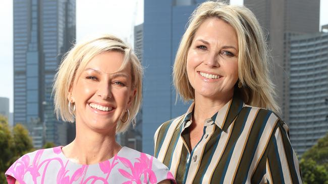 The female double act of Deb Knight and Georgie Gardner has so far been well received. Picture: Alex Coppel