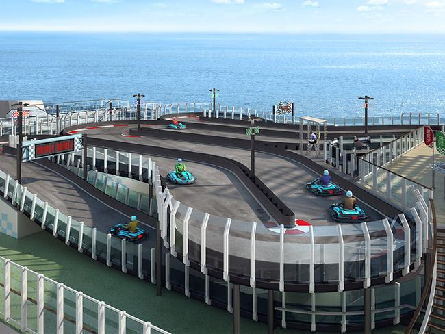 The Norwegian Joy will have its own open-air Go Kart track.