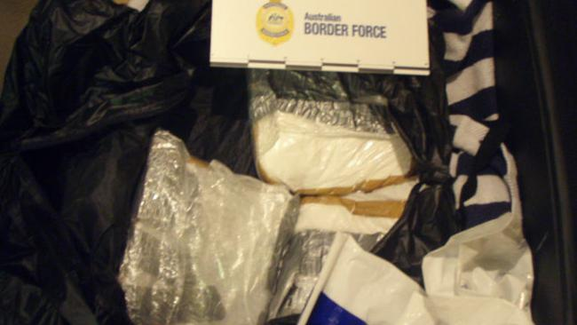 The cocaine was in four suitcases in two different cabins on the ship. Picture: Australia Border Force