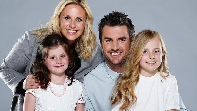 Darren and Deanna with daughters Lily (from left) and Scarlett. Picture: Tim Carrafa