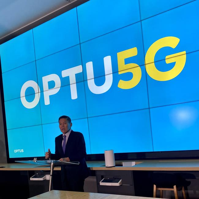 Optus CEO Allen Lew said the company was 'all in' on 5G