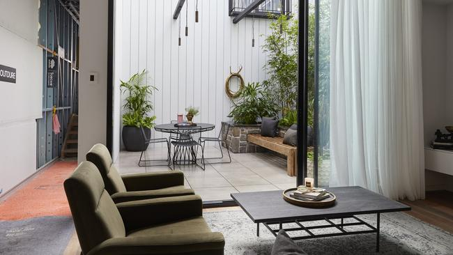 The judges thought the big garden didn't add functionality to the floorspace. Picture: Channel 9/ The Block