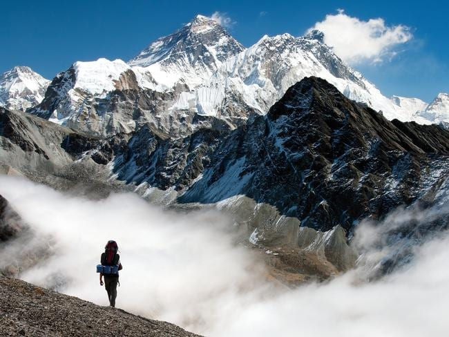 View of Everest from Gokyo on the way to Everest base camp, Nepal. Picture: iStock