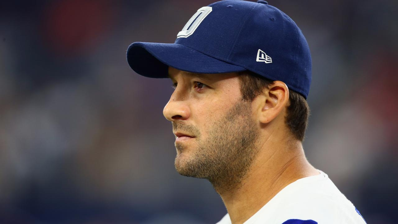 Tony Romo will commentate the Super Bowl. (Photo by Ronald Martinez/Getty Images)