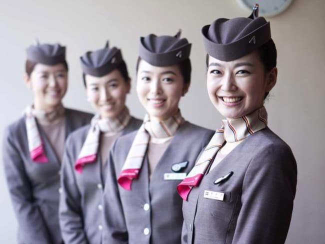 Asiana Airlines flight crew, not involved in the incident. Picture: Asiana Airlines