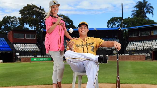 Donald Lutz and Larrisa Lutz at Hollyway Field. Picture: Scott Powick SMP Images / ABL Media