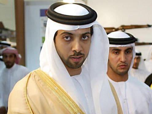Sheikh Mansour (left) back in 2004.