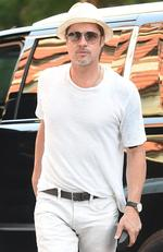 Brad was pictured solo in NYC in July 2016. Picture: Splash News Australia