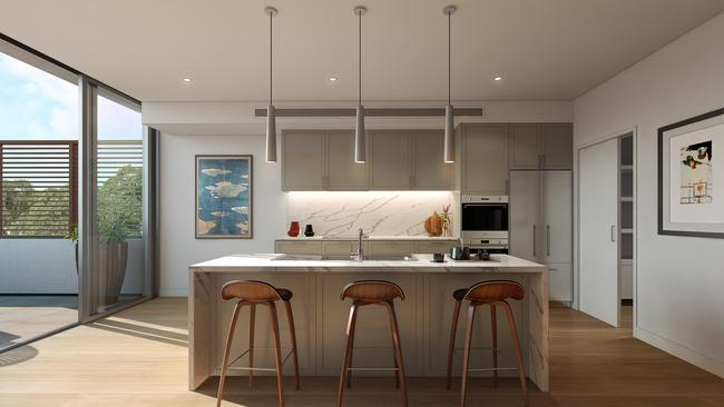 Contemporary kitchen with all the bells and whistles.