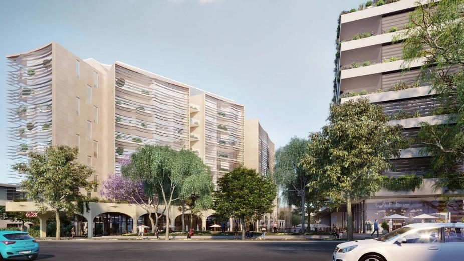 Artist impressions of the Ramsgate Village Proposal, which has gone to a rezoning review at NSW Planning.