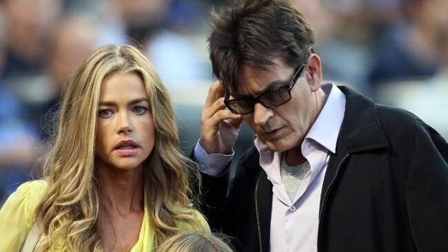 Sheen's ex-wife Denise Richards took a restraining order out against him. Image: Elsa / Staff/ Getty