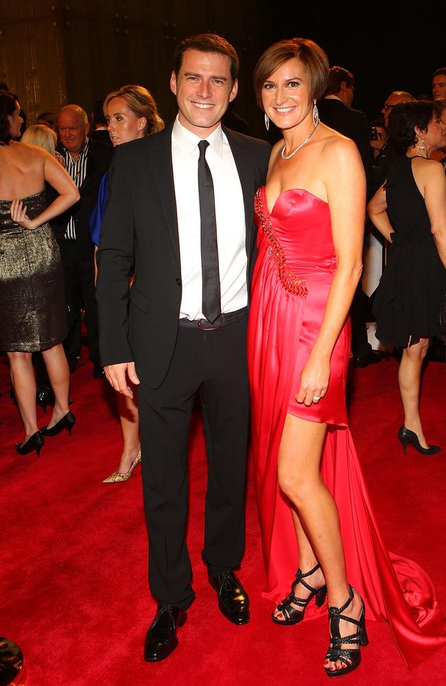 Karl Stefanovic and his ex-wife Cassandra Thorburn at the 2011 Logie Awards. Picture: Barbour/Getty Images