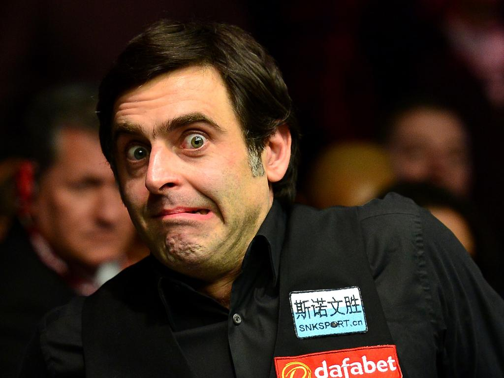 LONDON, ENGLAND - JANUARY 17: Ronnie O'Sullivan of England reacts after winning the final match against Barry Hawkins of England during Day Eight of The Dafabet Masters at Alexandra Palace on January 17, 2016 in London, England. (Photo by Dan Mullan/Getty Images)