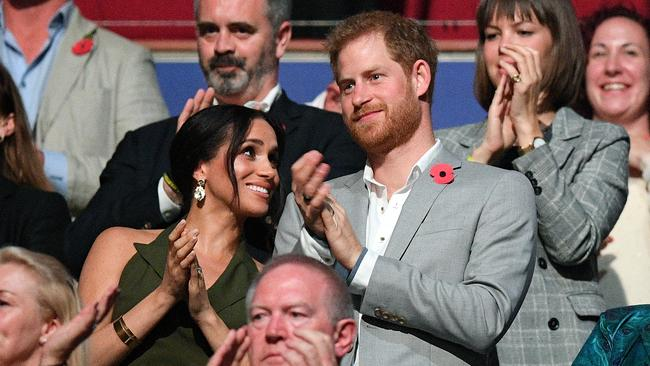 The royal couple enjoy the show. Picture: AAP Image/Dan Himbrechts