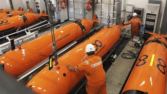Seabed Constructor will scour the seabed for MH370 using eight autonomous underwater vehicles (AUVs) simultaneously. Picture: Swire