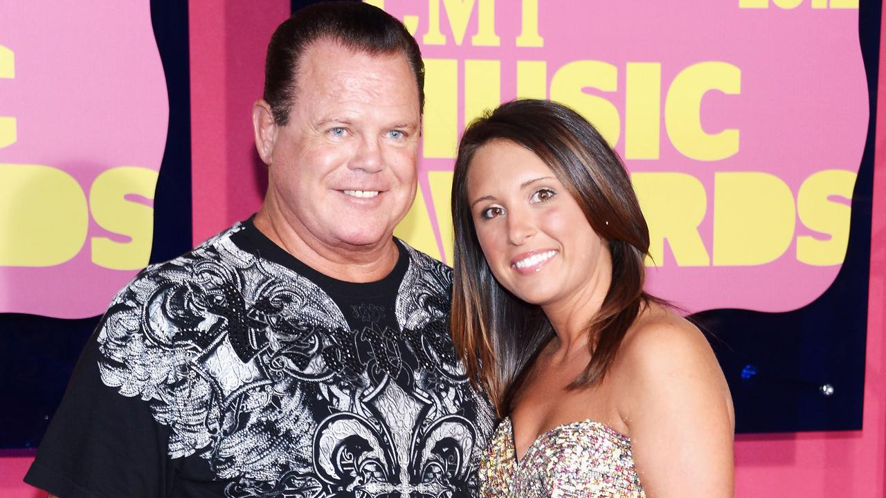 Jerry Lawler and fiancee Lauryn McBride. (Photo by Michael Loccisano/WireImage)