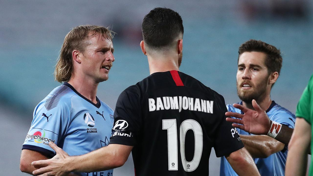 It ended 1-1 between the Wanderers and Sydney.
