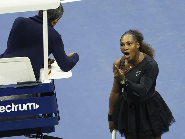 Serena Williams called umpire Ramos a liar during several heated exchanges. Picture: AP