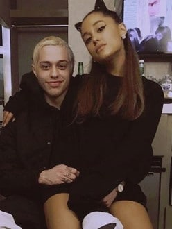 Ariana Grande and Pete Davidson. Picture: Instagram