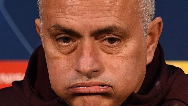 Jose Mourinho has cut an unhappy figure for much of this season. Picture: AFP