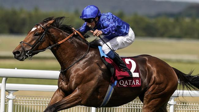 William Buick riding Cross Counter to win The Qatar Gordon Stakes at Goodwood Racecourse on August 4, 2018. Picture: Getty Images