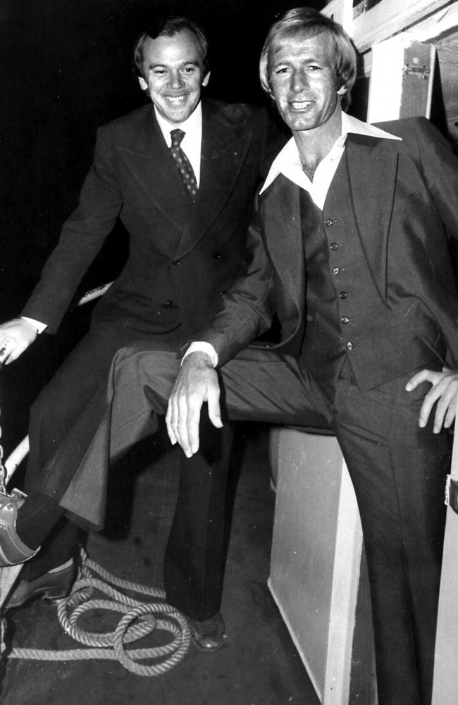 Mike Willesee And Paul Hogan In 1975