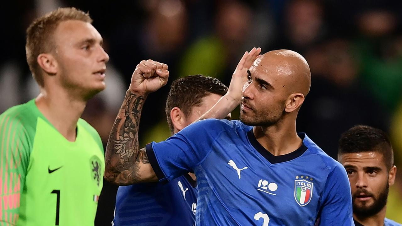 Simone Zaza might be thinking about a boxing career with a fist like this … considering Italy won't be punching their weight in Russia.