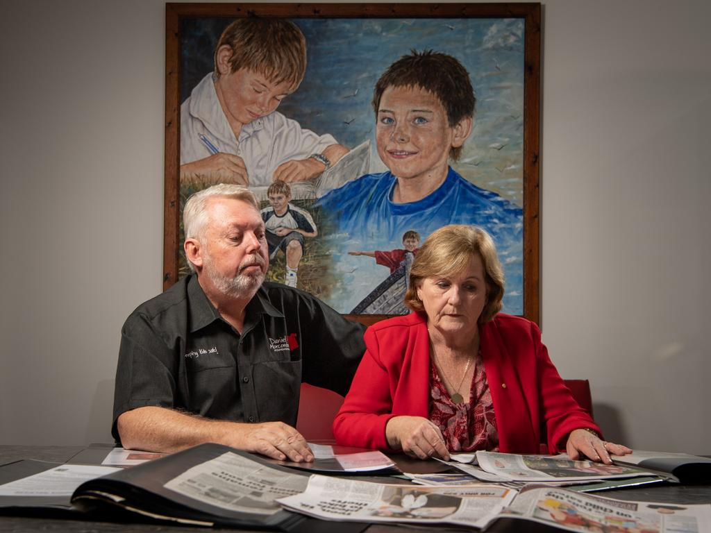 Bruce and Denise Morcombe at Daniel House in Palmwoods, Queensland, the main headquarters for the Daniel Morcombe Foundation. Picture: Brad Fleet/ National News Network