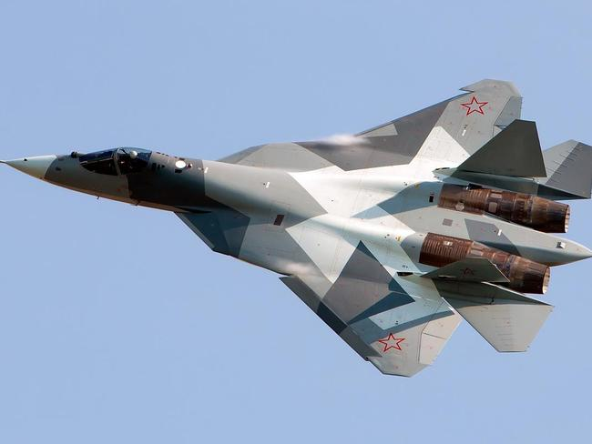 Off target ... Russia has cut back production of its T-50 stealth fighter after project partner India appeared to abandon the program. Source: Supplied