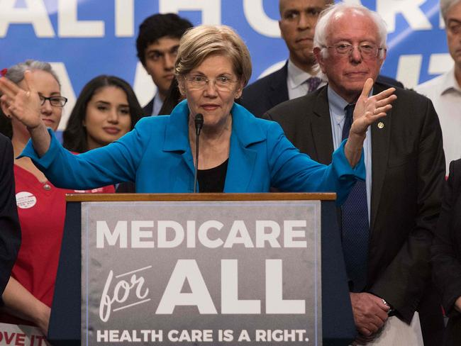 Senator Elizabeth Warren may steal some voters away from Bernie Sanders. Picture: AFP