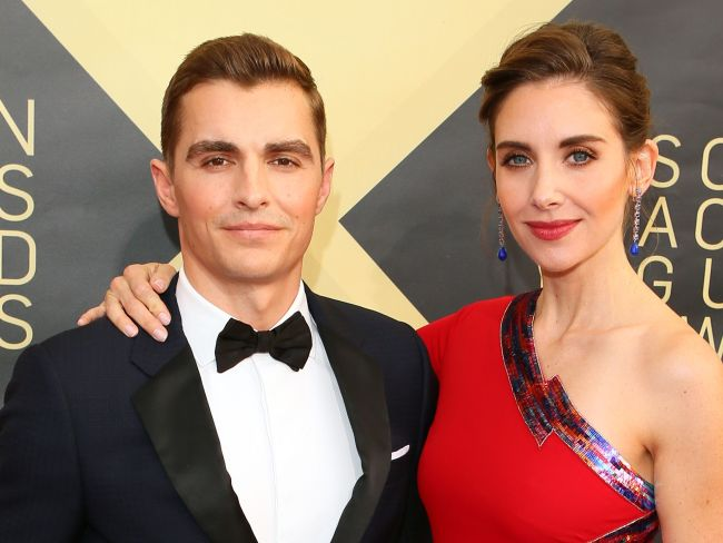 Dave Franco and Alison Brie arrive for the 24th Annual Screen Actors Guild Awards in LA. Photo: AFP / Jean-Baptiste Lacroix