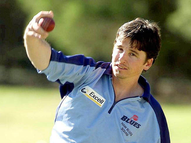 Robertson back in his days with the NSW Blues.