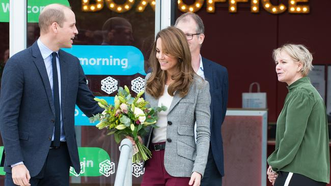 The royal couple visited a mental health charity in London. Picture: Matrix Pictures