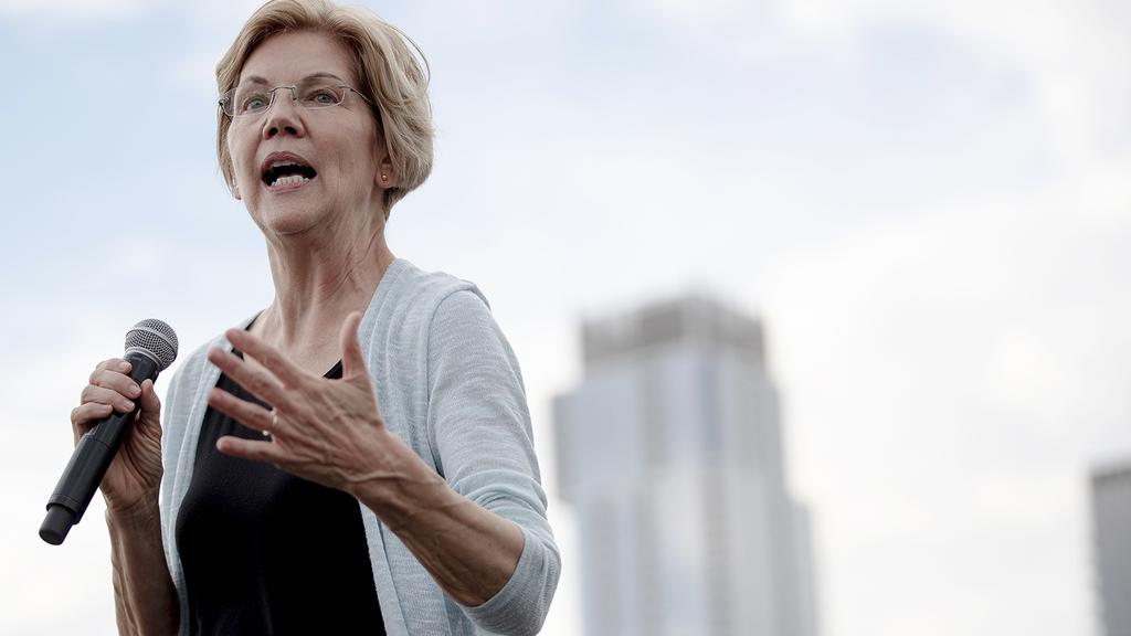 Democratic presidential candidate Elizabeth Warren, during a rally on Tuesday, Sept. 10, 2019, in Austin, Texas. Picture: Nick Wagner/Austin American-Statesman via AP.