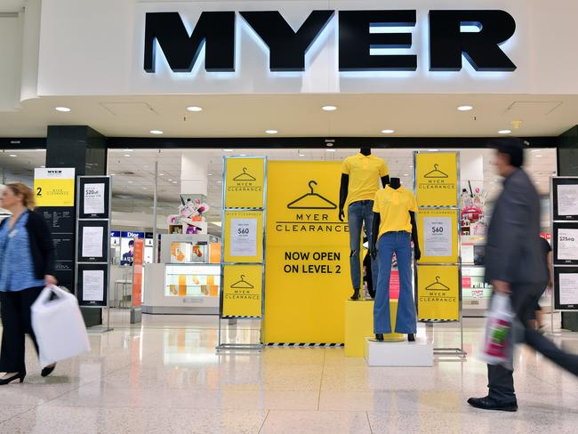Select Myer stores now have a discount floor, but not everyone loves the idea. Picture: Joel Carrett / AAP