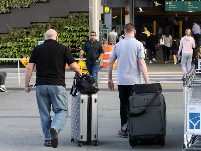 Homicide Squad detective Detective Chief Insp Wayne Walpole arrives in Vancouver airport after the death of Australian Lucas Fowler and his girlfriend Chynna Deese were found murdered on the roadside with their blue van. Picture: Clint Brewer