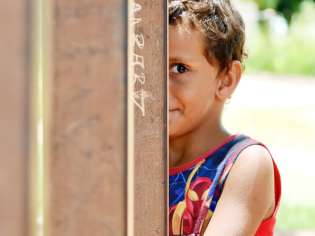 A child in the community of Milikapiti on the Tiwi Islands, NT.