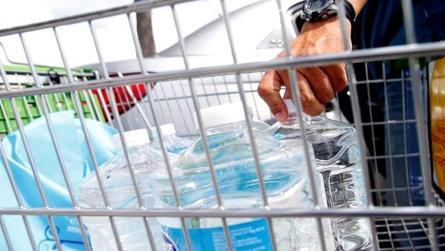 Experts say that the plastics are likely seeping in during the packaging process. Picture: Brian Blanco/AFP