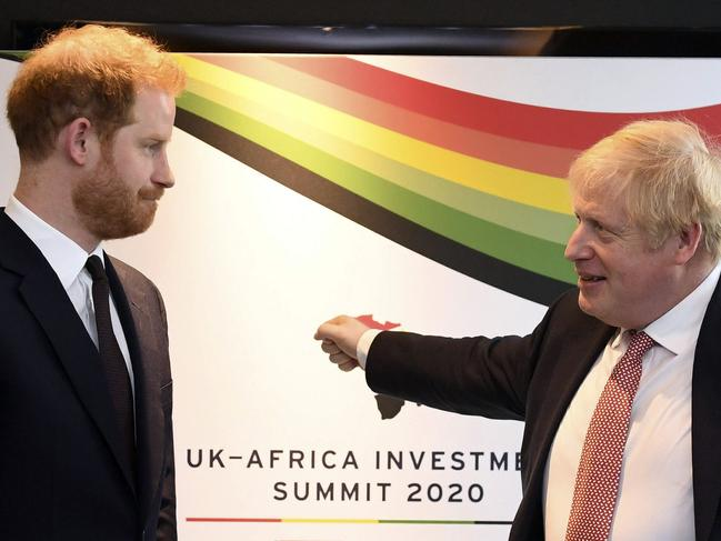 Prince Harry would do well to take some advice from UK Prime Minister Boris Johnson, renowned for his wild head of hair. Picture: AP