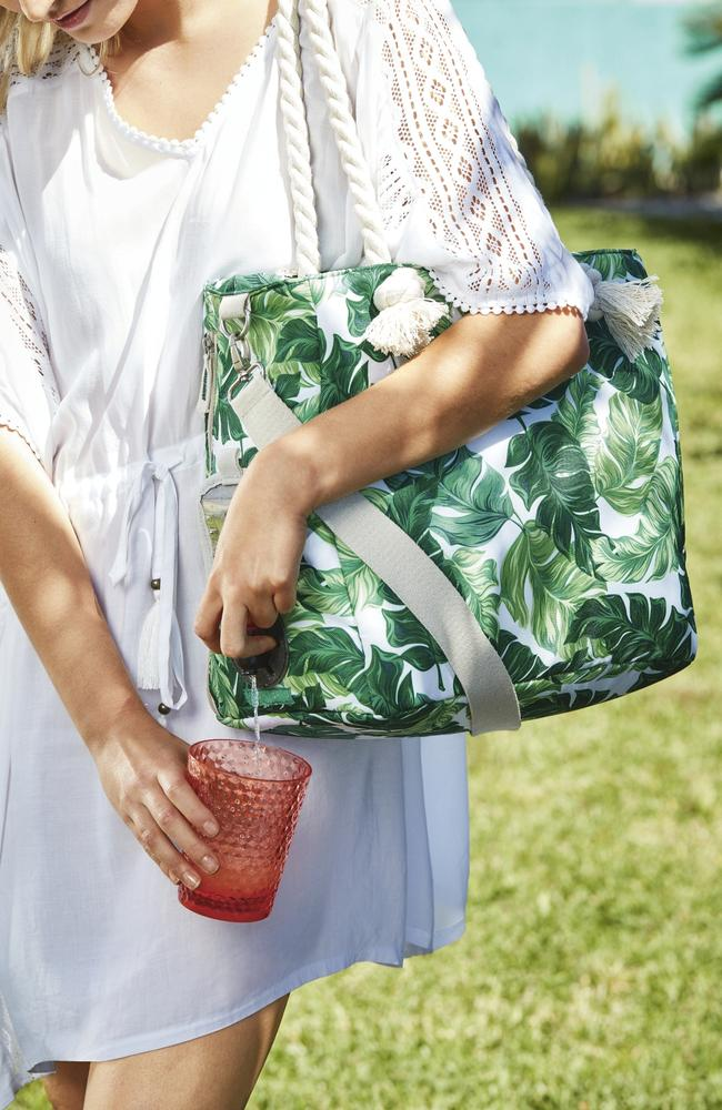 The bag comes with a hidden drink compartment. Picture: Supplied.