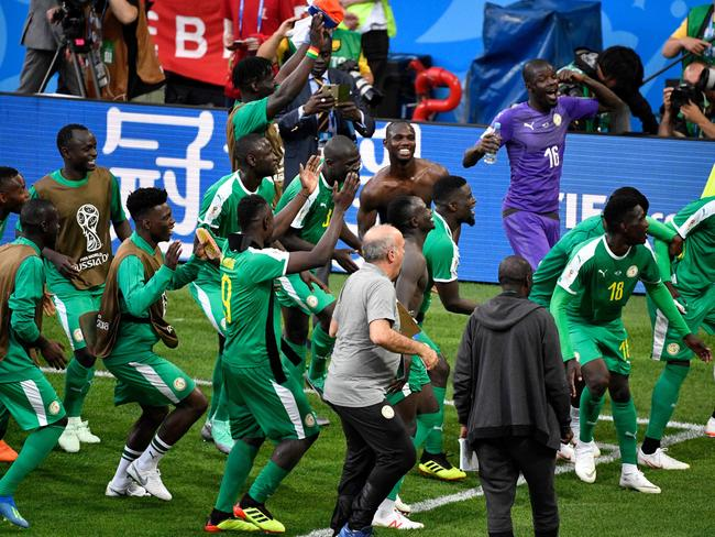 It was party time for Senegal.
