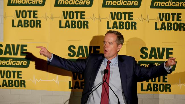 Opposition Leader Bill Shorten has campaigned heavily on saving Medicare from privatisation. Picture: Alex Ellinghausen/Getty Images